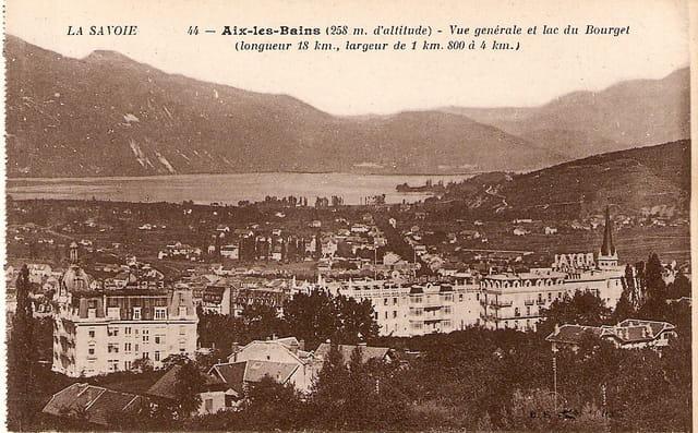 Vue générale du lac du Bourget