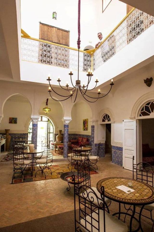 Vue intérieure du Riad la maison des épices à El jadida au Maroc