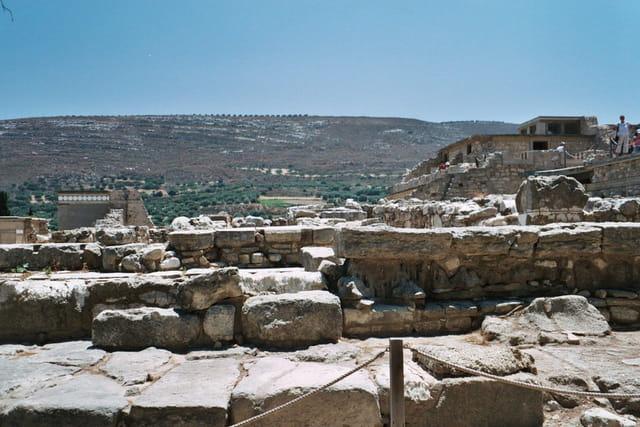 vue panoramique de Knossos