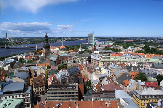 Vue panoramique de Riga