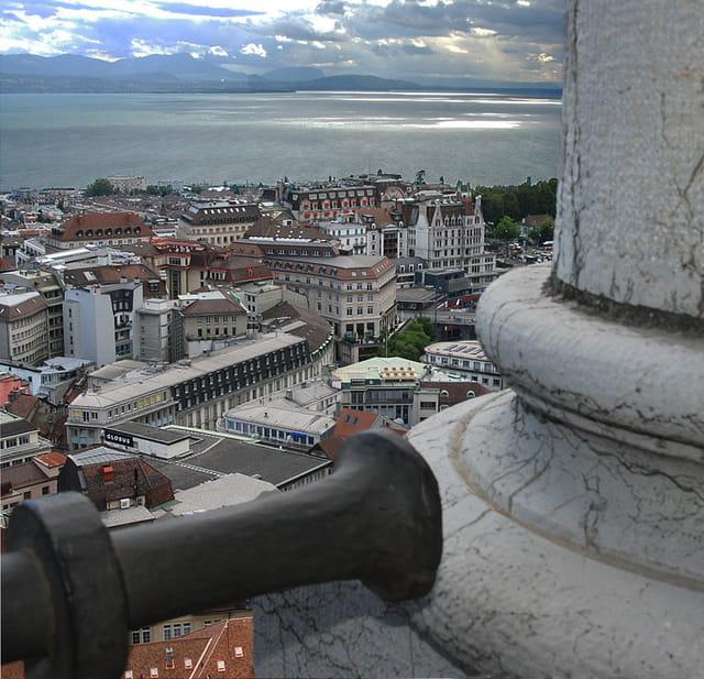 Vue partielle de Lausanne