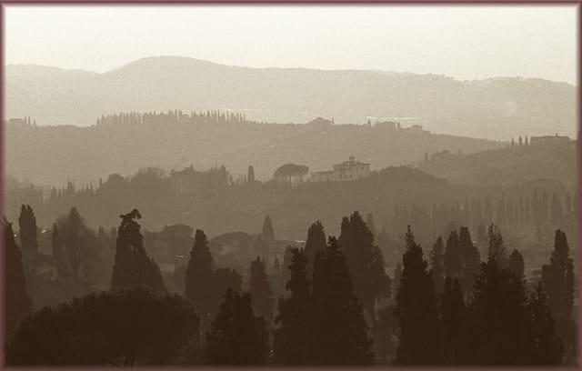 Vue prise près de l'observatoire de Florence