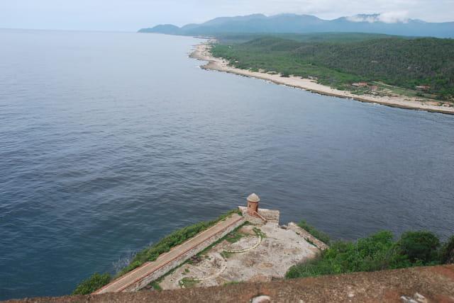 vue sur la côte de Santiago de Cuba