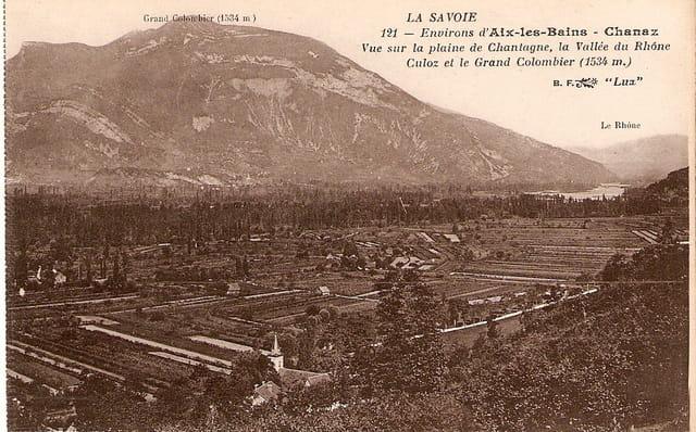 Vue sur la plaine de Chatagne
