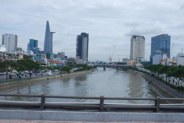 vue sur la rivière Saigon