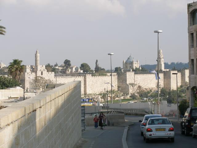 Vue sur la vieille ville de Jérusalem