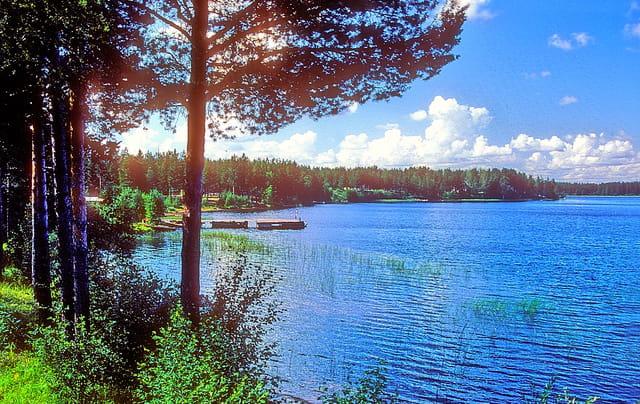 Vue sur le lac Vättern