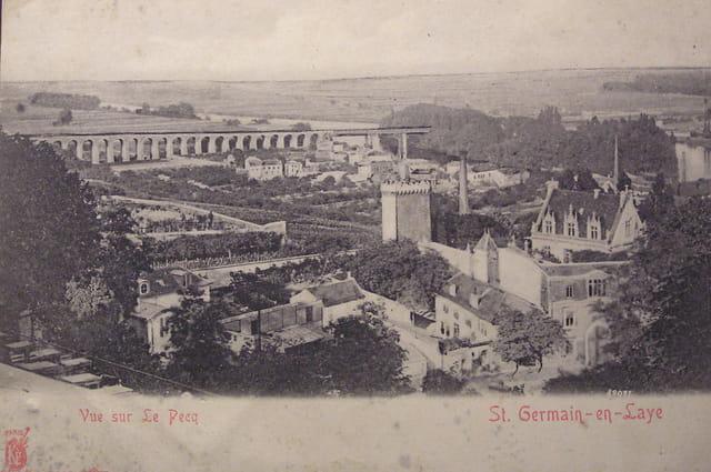 Vue sur le pecq 1912