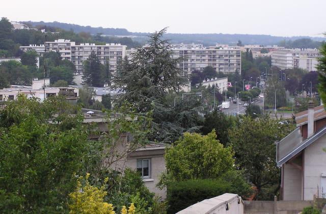 Panorama sur le quartier du centre, Le Pecq