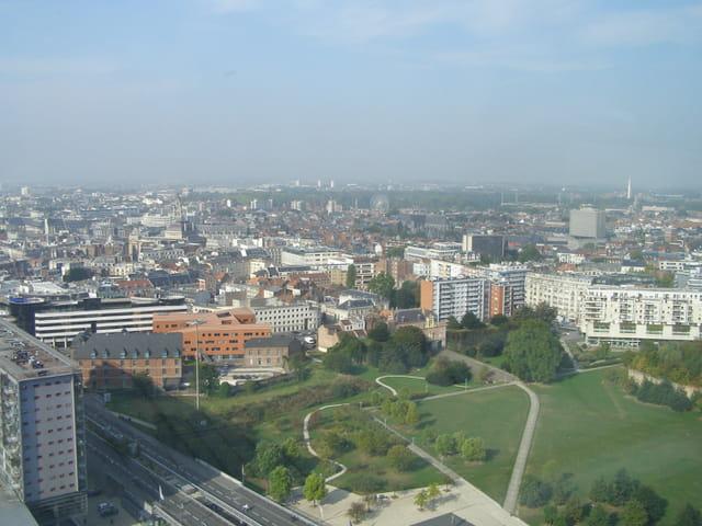 Vue vers la citadelle et le bois de Boulogne de Lille