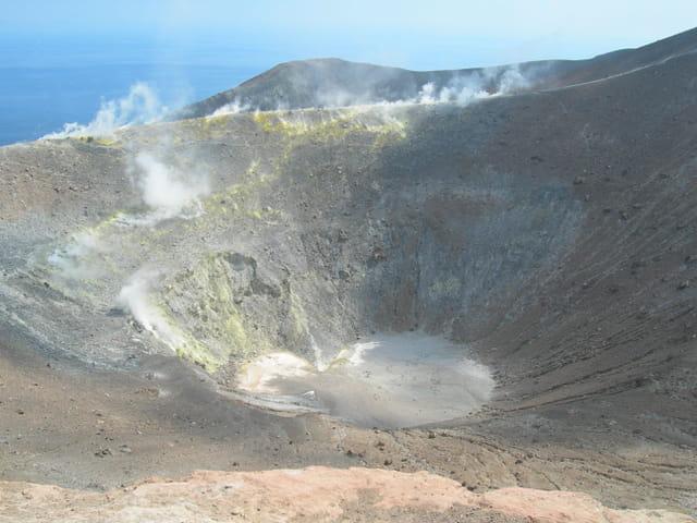 Vulcano en haut du volcan