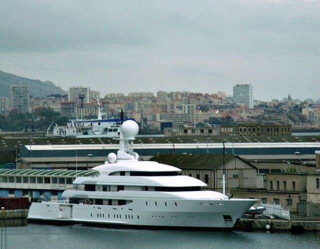 Yacht au repos