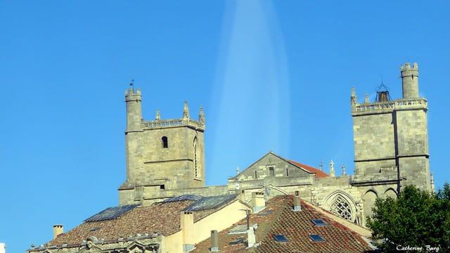Zoom sur la cathédrale de Béziers