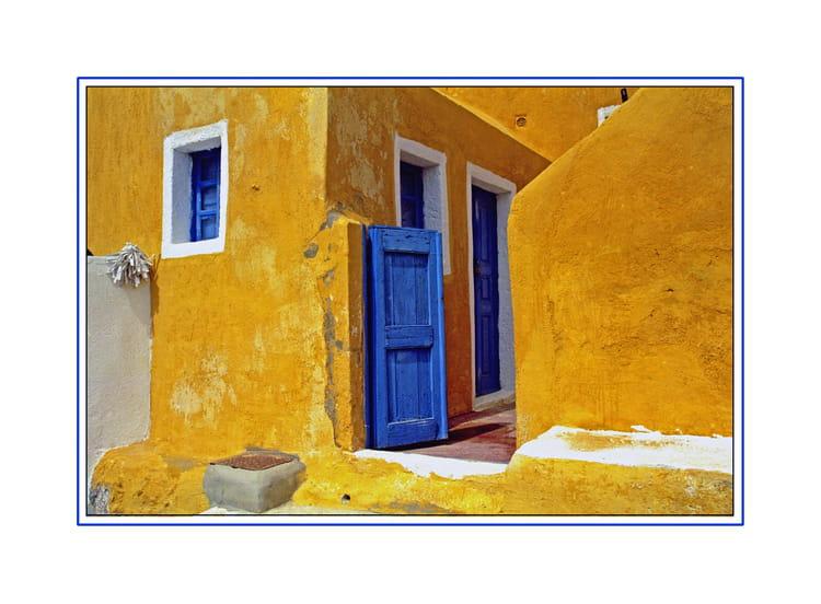 la porte bleue par babeth bonnereau sur l internaute