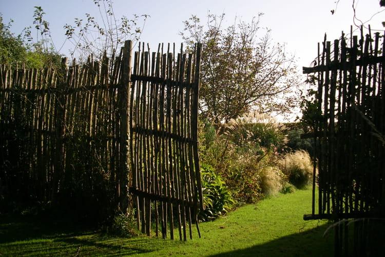 barri re de jardin en contre jour par christian fischer sur l 39 internaute. Black Bedroom Furniture Sets. Home Design Ideas