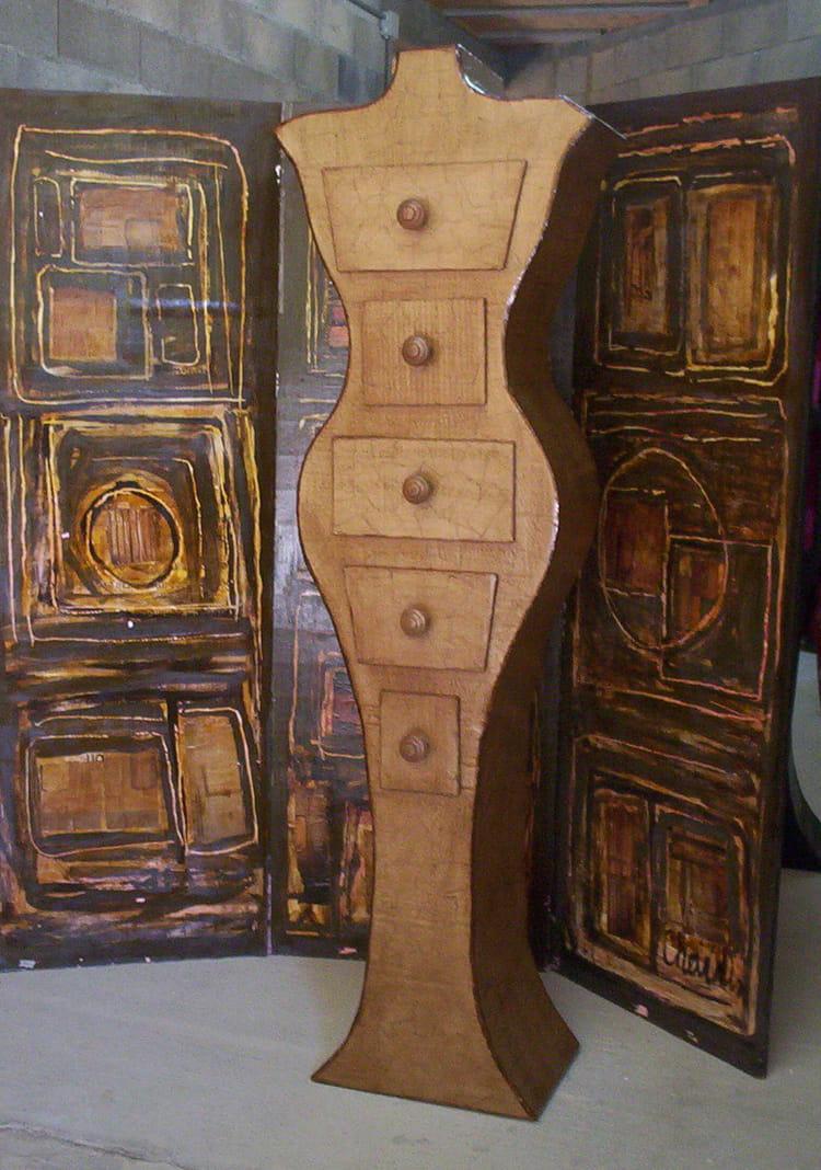 Meuble en carton par sylvie lambert sur l 39 internaute - Meuble en carton prix ...