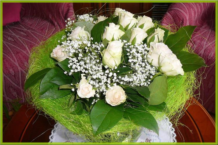 Un joli bouquet de roses par jacqueline dubois sur l for Un bouquet de roses
