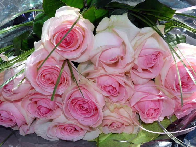 bouquet de roses au coeur rose par sylviane natoli sur l 39 internaute. Black Bedroom Furniture Sets. Home Design Ideas