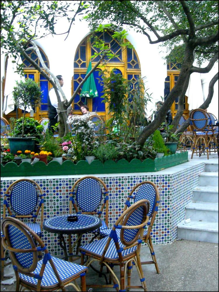 Caf maure de la grande mosqu e de paris par yvette gogue sur l 39 internaute - Mosquee de paris salon de the horaires ...