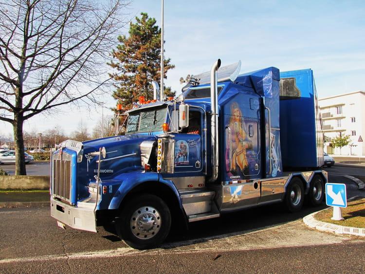 Camion am ricain kenworth par jean marc puech sur l - Dessin de camion americain ...