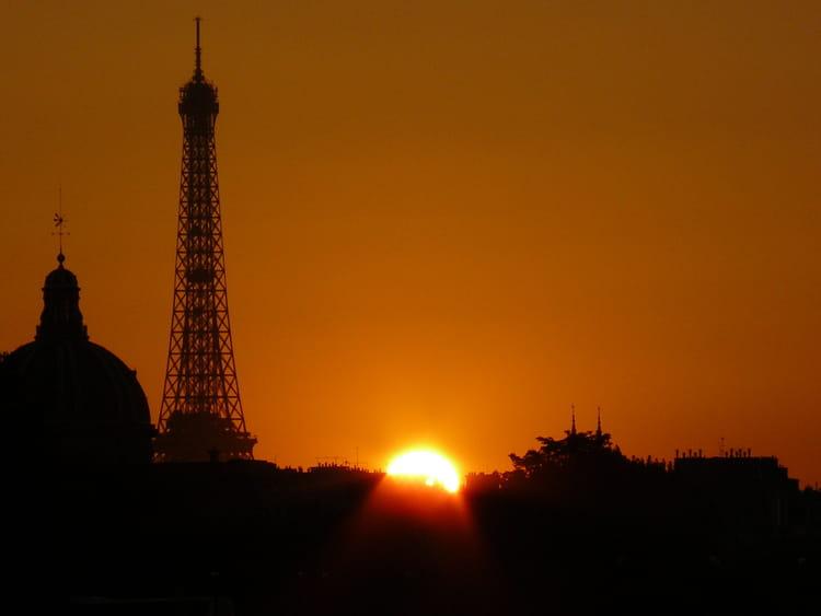 Coucher de soleil paris par david guez sur l 39 internaute - Coucher de soleil sur paris ...