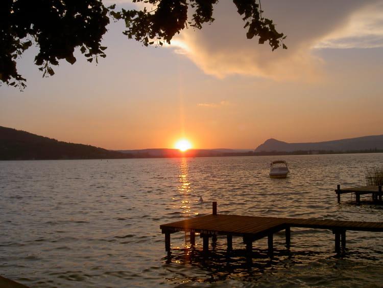 lac coucher de soleil - photo #10