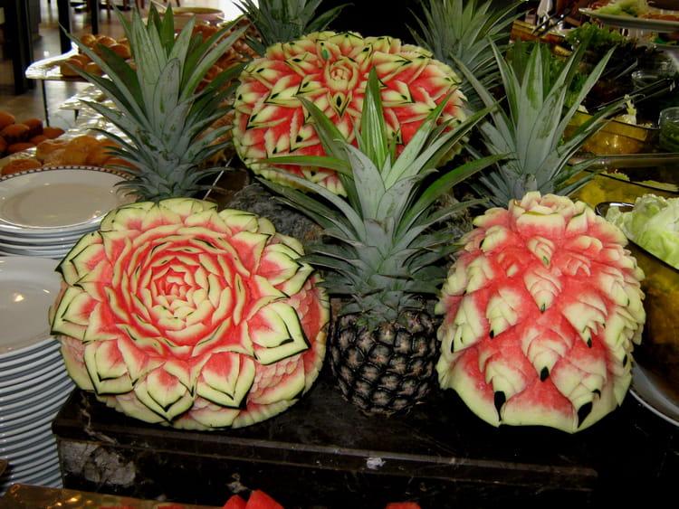 D cor de fruits par g rard mignon sur l 39 internaute for Decoration de salade de fruits