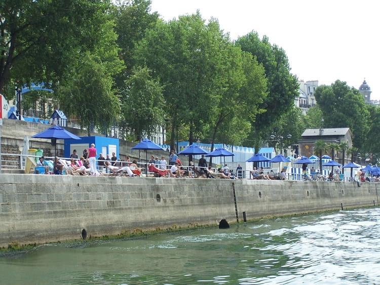 Paris plage sur bords de seine par jean marc puech sur l - Piscine plage paris asnieres sur seine ...