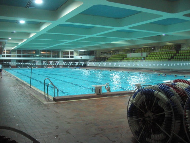 Piscine olympique du stade louis ii par baptiste riviere for Piscine stade louis 2