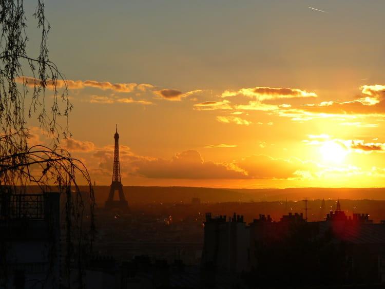 Soleil couchant sur paris par babeth bonnereau sur l 39 internaute - Coucher de soleil sur paris ...