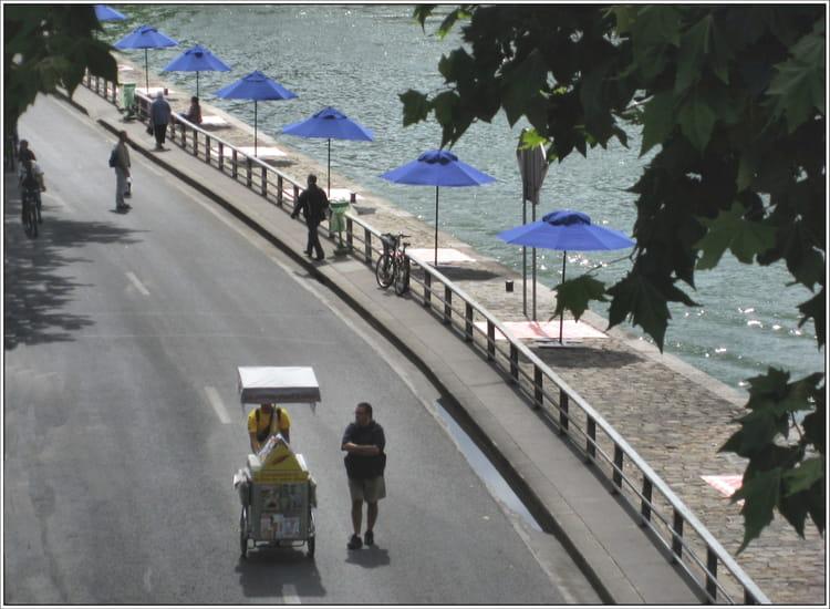 voie sur berge paris plage par jean pierre tolomio sur l 39 internaute. Black Bedroom Furniture Sets. Home Design Ideas